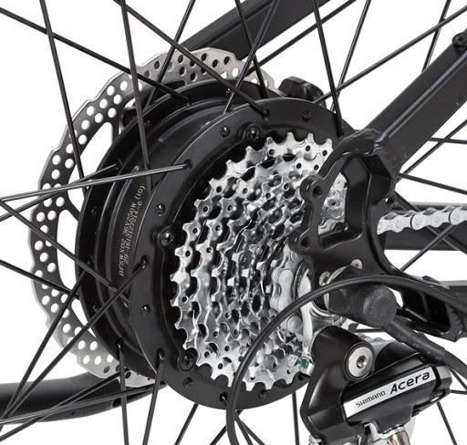 Rower elektryczny - napęd na tylne koło