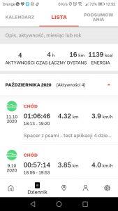 Zakładka - Dziennik - Lista