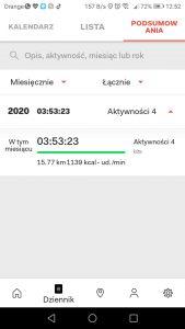 Zakładka - Dziennik - Podsumowania
